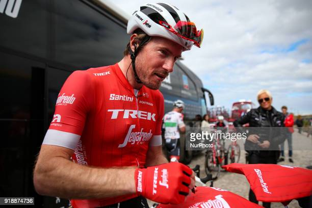 Gregory Rast of TrekSegafredo before the 2nd stage of the cycling Tour of Algarve between Sagres and Alto do Foia on February 15 2018