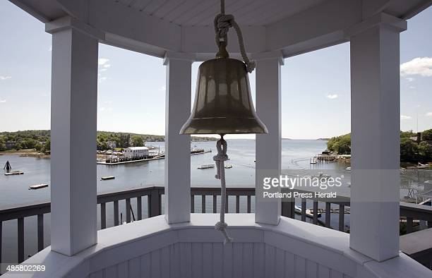Gregory Rec/Staff Photographer: -- A bell hangs in the tower of the Oest home in Boothbay Harbor. Photographed on Monday, June 7, 2010.