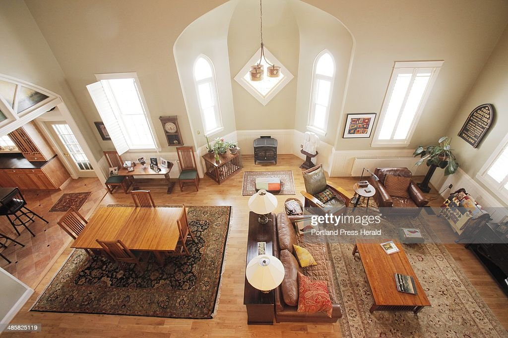 A former church converted into a home on West Elm Street in