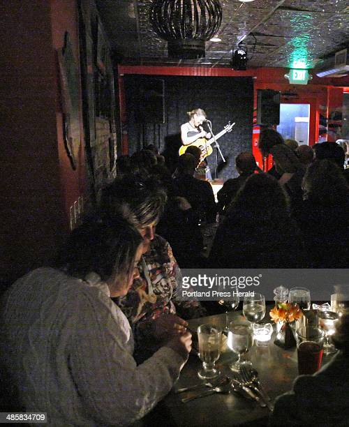 Gregory Rec/Staff Photographer Antje Duvekot performs at Slates in Hallowell on Monday February 9 2009 Slates has reopened after being closed for...
