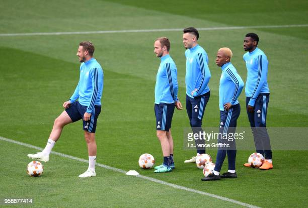 Gregory Sertic of Marseille Valere Germain of Marseille Lucas Ocampos of Marseille Clinton N'Jie of Marseille and AndreFrank Zambo Anguissa of...