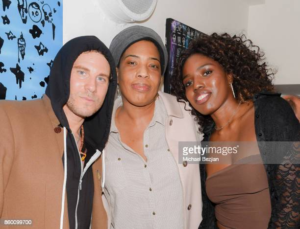Gregory Siff and Macy Gray and Anisha Hines at Gregory Siff Studios and 4AM Gallery Opening at Dream Hollywood on October 10 2017 in Los Angeles...