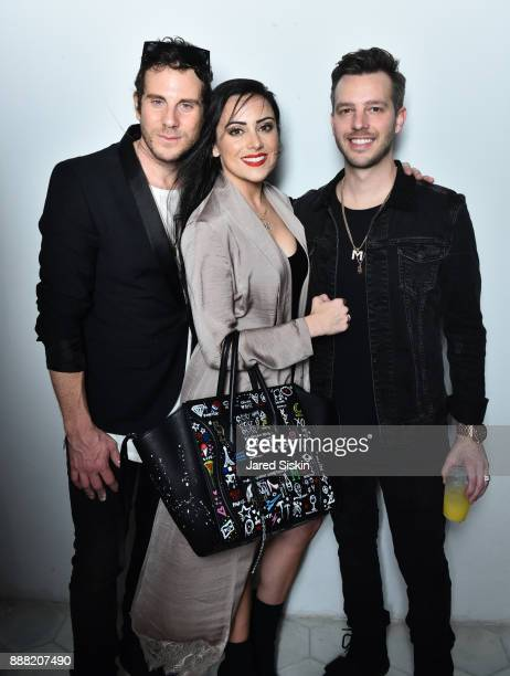 Gregory Siff Casey Martin Adrian Morrison attend 4AM Presents Crash This A Private Exhibition Of New Paintings By Gregory Siff at Soho House Miami on...