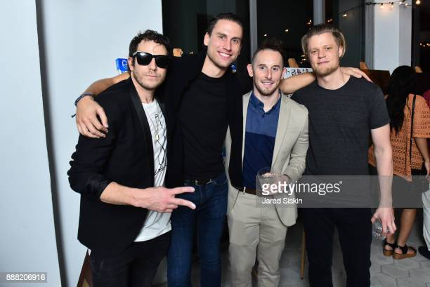 Gregory Siff James Wright Matt Herget and guest attend 4AM Presents Crash This A Private Exhibition Of New Paintings By Gregory Siff at Soho House...