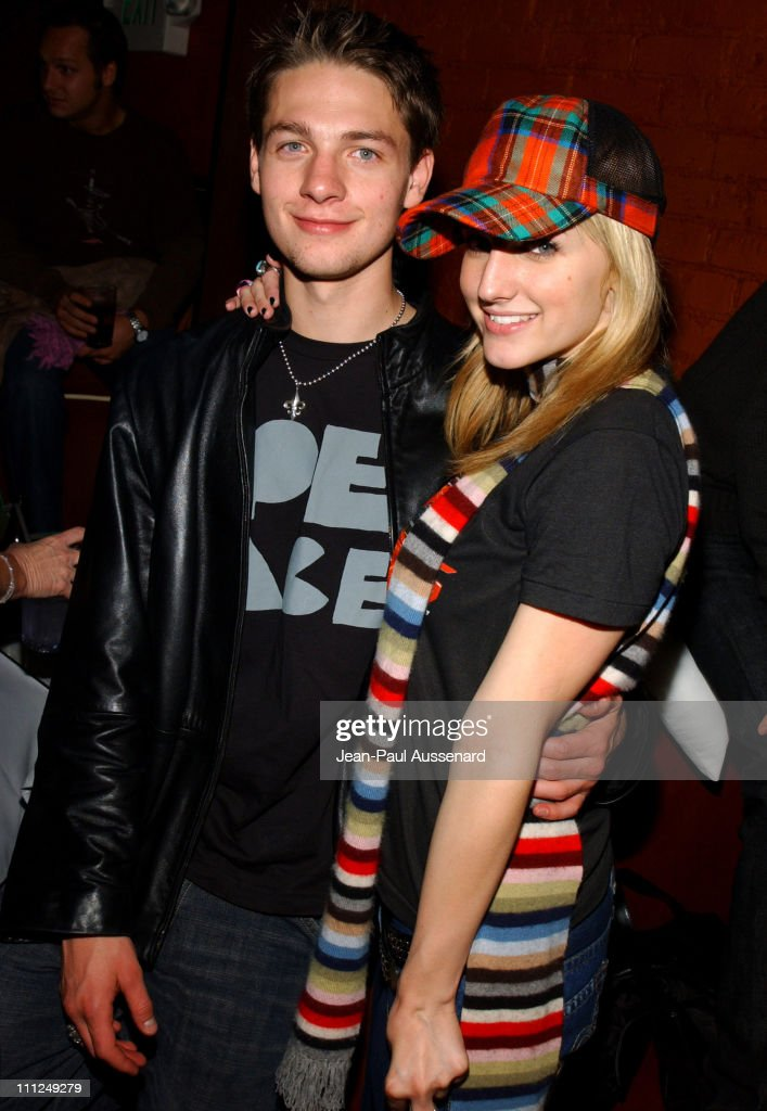 Gregory Smith and Ashlee Simpson during STUFF Magazine and Blender Host Kid Rock's After - Party For The 2003 American Music Awards- Red Carpet/Inside at Forbidden City in Hollywood, California, United States.