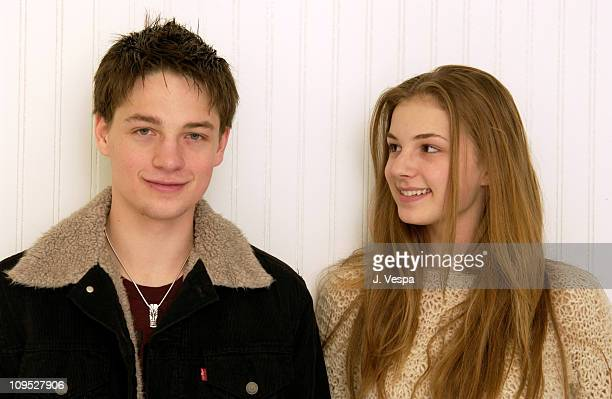 Gregory Smith and Emily VanCamp during 2003 Sundance Film Festival Gregory Smith and Emily VanCamp Portraits at Yahoo Movies Portrait Studio in Park...