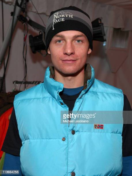 Gregory Smith at Napapijri at The Ice Lounge presented by The North Face, Lexus, and St. Regis.*Exclusive*