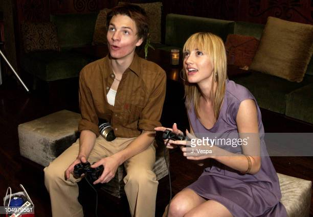 Gregory Smith Bree Turner playing PlayStation 2 during PlayStation 2's After Party for Movieline's 4th Annual Young Hollywood Awards at The Highlands...