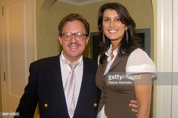 Gregory Speck and Diana Bianchini attend MICHAEL S SMITH AGRARIA COLLECTION LAUNCH at Lowell Hotel on April 18 2007