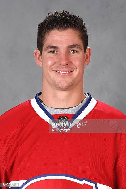 Gregory Stewart of the Montreal Canadiens poses for his official headshot for the 20082009 NHL season