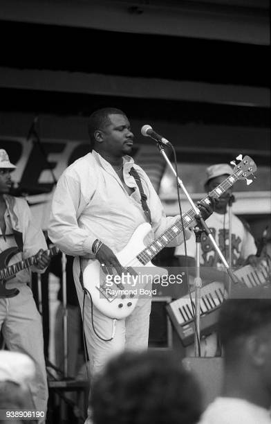 Gregory 'Sugar Bear' Elliot from the gogo group EU performs during the Miller Sound Express concert in Milwaukee Wisconsin in June 1989