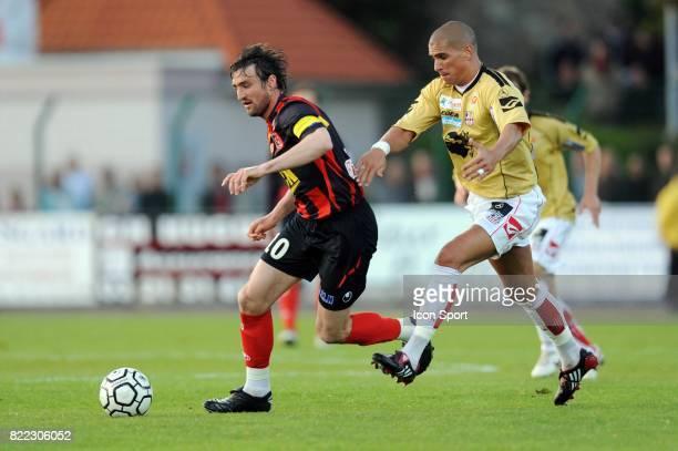 Gregory THIL / Carl MEDJANI - - Boulogne sur Mer / Ajaccio - 34 eme journee de Ligue 2 - Stade de la Liberation - Boulogne sur Mer,