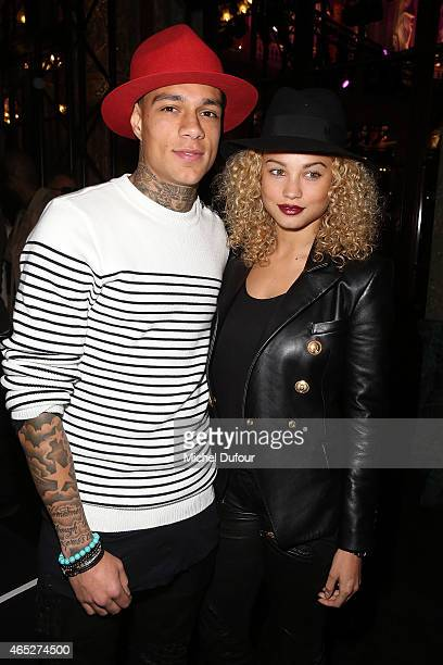 Gregory van der Wiel and Rose Bertram attend the Balmain show as part of the Paris Fashion Week Womenswear Fall/Winter 2015/2016 on March 5 2015 in...