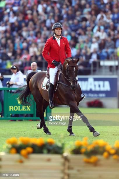 Gregory WATHELET riding ELDORADO VAN HET VIJVERHOF during the Prize of North RhineWestphalia of the World Equestrian Festival on July 21 2017 in...