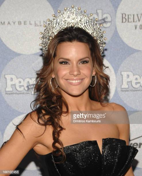 Greidys Gil Nuestra Belleza Latina 2009 attends the People en Espanol Los 50 Mas Bellos party at Gustavino's on May 20 2010 in New York City