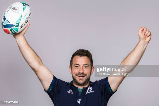 Greig Laidlaw of Scotland poses for a portrait during the Scotland Rugby World Cup 2019 squad photo call on on September 11 2019 in Nagasaki Japan