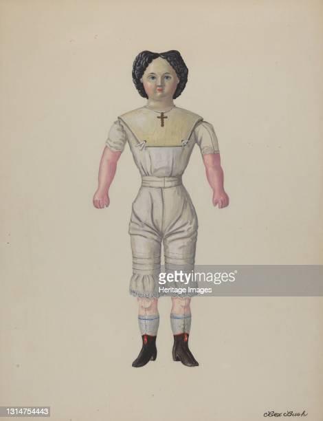 "Greiner Doll ""Minerva"", c. 1937. Artist Rex F Bush."
