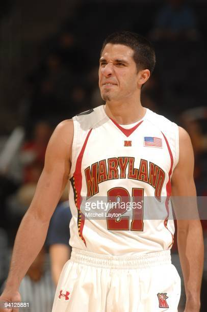 Greivis Vasquez of the Maryland Terrapins looks on during the BBT Classic college basketball game against the Villanova Wildcats on December 6 2009...