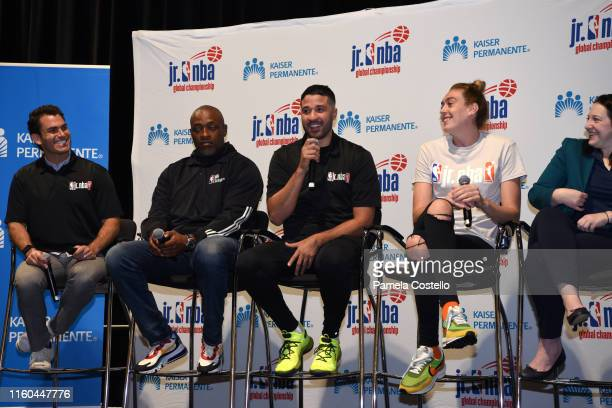 Greivis Vásquez talks to the players during the Life Skills Session during the Jr NBA Global Championship on August 7 2019 at the Gaylord Palms...