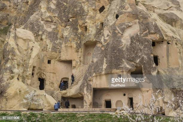 Göreme Open Air Museum in Cappadocia in Nevsehir province in Central Anatolia Turkey It is a monastic complex with very well preserved carved...