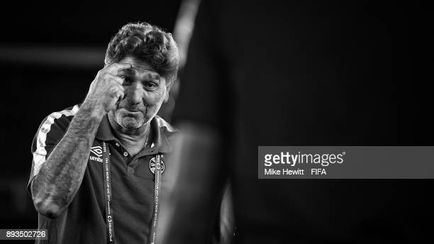 Gremio coach Renato Gaucho makes a point during a stadium visit ahead of the FIFA Club World Cup UAE 2017 Final between Real Madrid and Gremio FBPA...