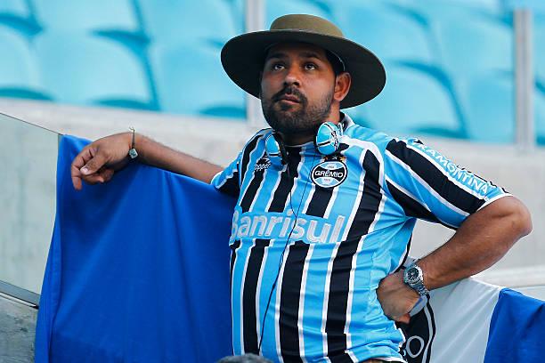 Gremio fan before the match Gremio v Internacional as part of Brasileirao  Series A 2015 42b1c8a2379fc