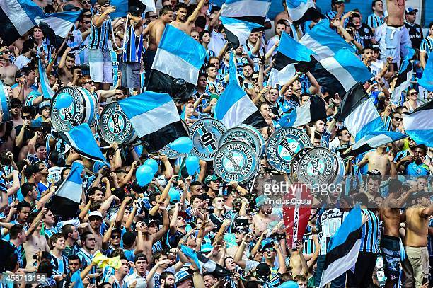 Gremio fans before the match Gremio v Internacional as part of Brasileirao  Series A 2014 at 8f0c77859c5c3