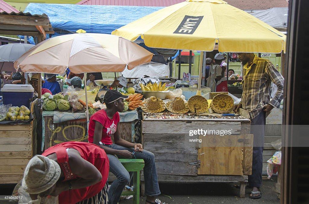 Grenada St. George's Market : Stock Photo