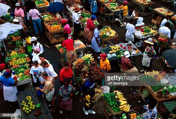 Grenada St Georges Market Square Locally Grown Produce Produce Vendor