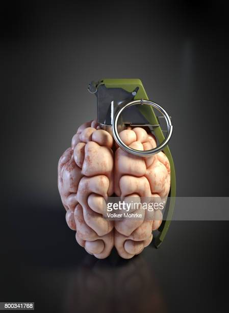 grenade brain - violencia psicologica imagens e fotografias de stock