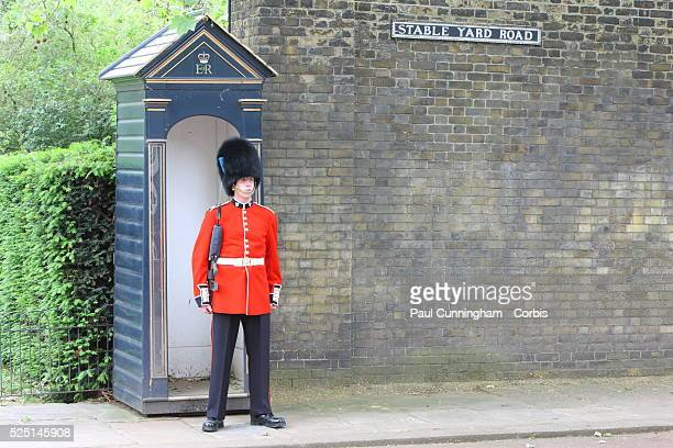 A Grenadier Guard stands at attention at the entrance to Clarence House in Stable Yard Road London 1 June 2012 Image by �� Paul Cunningham/Corbis