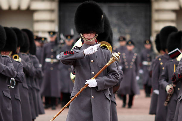 The Grenadier Guards Take Part In Their Ceremonial Duties