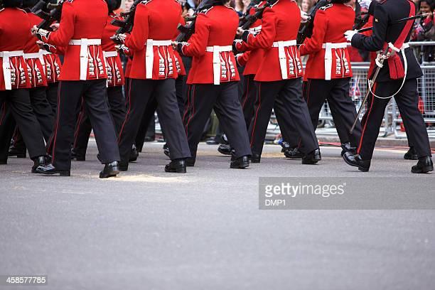 Grenadier Guards marching at the Queen's Diamond Jubilee State procession