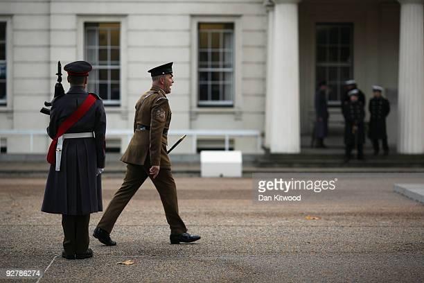 Grenadier Guards participating in ceremonial duties at Wellington Barracks on November 5 2009 in London England Three Grenadier Gurardsmen were...