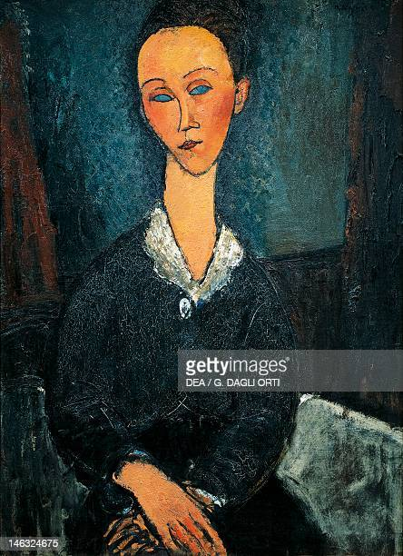 Grenoble Musée De Grenoble Woman in white collar portrait of Lunia Czechowska by Amedeo Modigliani oil on canvas 81x60 cm