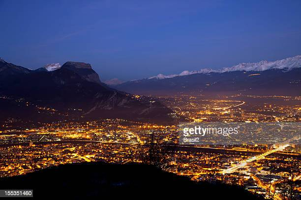 Grenoble vue de nuit