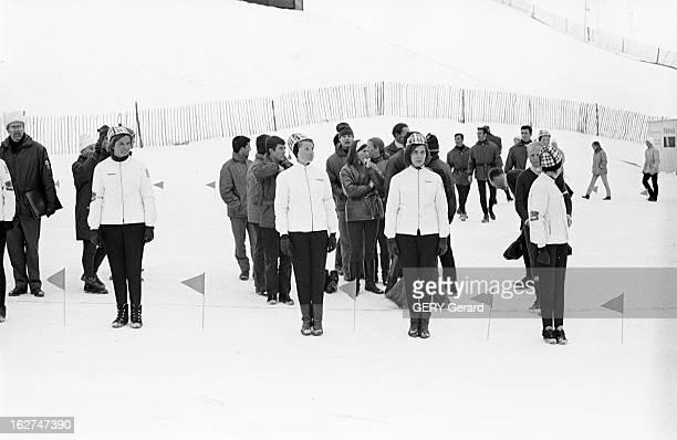 Swiss German And Austrian Teams Renounce To Participate In Competitions Chamrousse du 15 au 19 février 1967 lors de la semaine internationale...