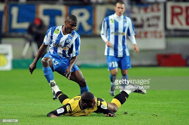 Grenoble's Franck Dja Djedje vies with Nantes' defender Emerson during their French L1 football match on October 29 2008 at the Stade des Alpes in...