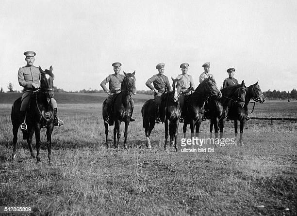 Grenzstation an der deutschrussischen Grenze Kosaken zu Pferde undatiert vermutlich um 1910Foto Conrad HünichFoto ist Teil einer Serie