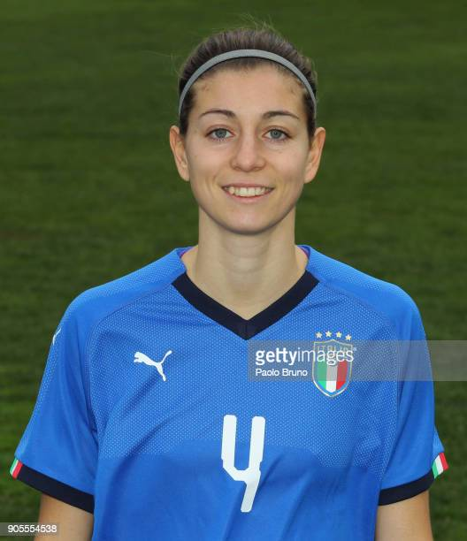 Greta Adami of Italy poses during the Italy women portrait session on January 16 2018 in Rome Italy