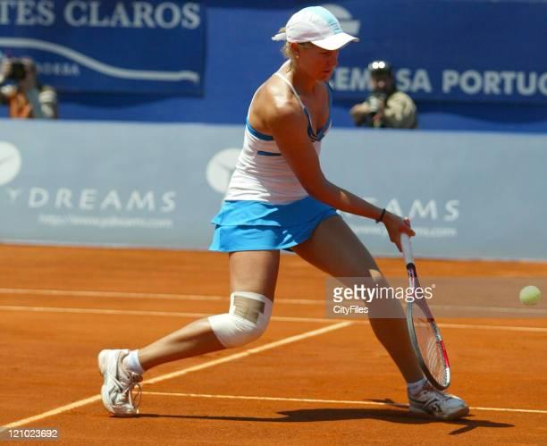 Greta Arn during the 2007 Estoril Open Women's Singles Final between Greta Arn and Victoria Azarenka in Estoril Portugal on May 6 2007