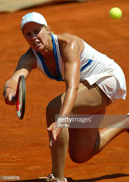 Greta Arn during the 2007 Estoril Open Women's Singles match between Nuria Llagostera Vives and Greta Arn on May 5 2007