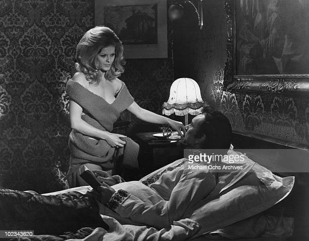 Greta attempts to seduce her husband Bluebeard in a scene from the movie Bluebeard which was released September 1 1972