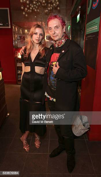 Greta Bellamacina and Bruno Wizzard attend a drink reception celebrating the UK Premiere of 'The Safe House A Decline Of Ideas' directed by Greta...