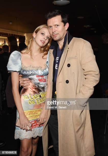Greta Bellamacina and Robert Montgomery attend a screening of short films 'Indigo Valley' and 'The Last Birthday' at Shortwave Cinema on November 24...