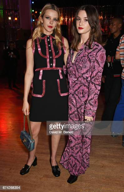 Greta Bellamacina and Sai Bennett attend the Gucci and iD party celebrating the Gucci PreFall 2017 campaign at the Mildmay Club in Stoke Newington on...