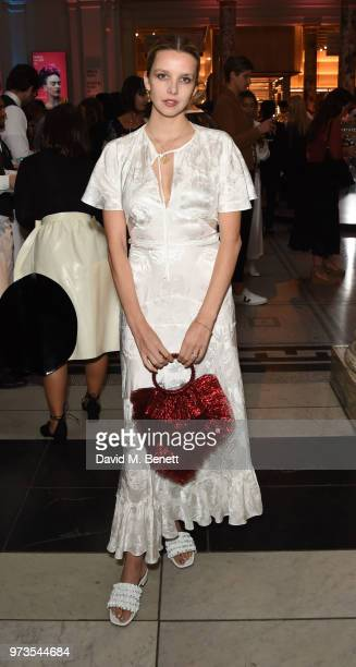 Greta Bellamacina attends a private view of 'Frida Kahlo Making Her Self Up' at The VA on June 13 2018 in London England