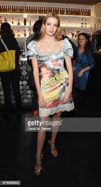 Greta Bellamacina attends a screening of short films 'Indigo Valley' and 'The Last Birthday' at Shortwave Cinema on November 24 2017 in London England