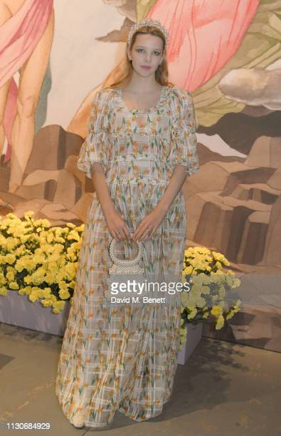 Greta Bellamacina attends the Shrimps show during London Fashion Week February 2019 at Ambika P3 on February 19 2019 in London England