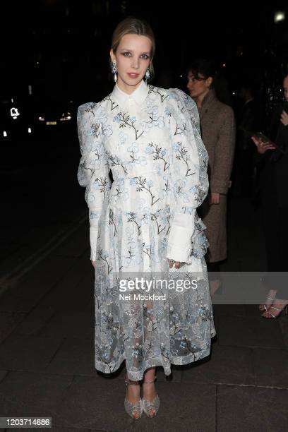 Greta Bellamacina attends the Vogue x Tiffany Fashion Film after party for the EE British Academy Film Awards 2020 at Annabel's on February 02 2020...
